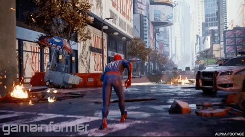 Еще больше подробностей и демонстрация геймплея грядущего экшена Marvel's Spider-Man от Insomniac Games Игры, Playstation 4, Insomniac Games, Статья, Человек-Паук, Эксклюзив, Гифка, Длиннопост