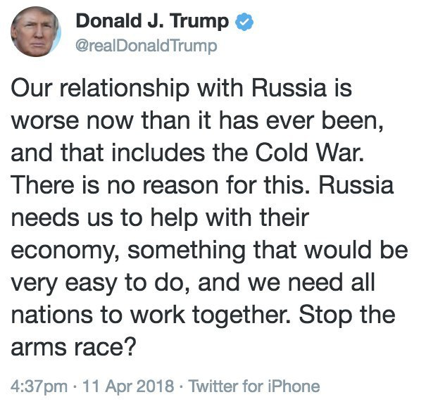 3 мировая закончилась, расходимся Политика, Трамп, Россия, США, Twitter