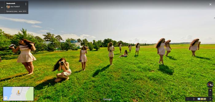 Неожиданно Панорама, Просмотр улиц, Девушки, Google maps