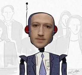Интернет затроллил Цукерберга после выступления в Сенате Марк Цукерберг, Facebook, Сенат, Утечка данных, Выступление, Киборги, Гифка, Длиннопост