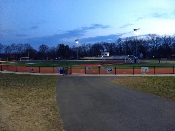 Школьный стадион в городке