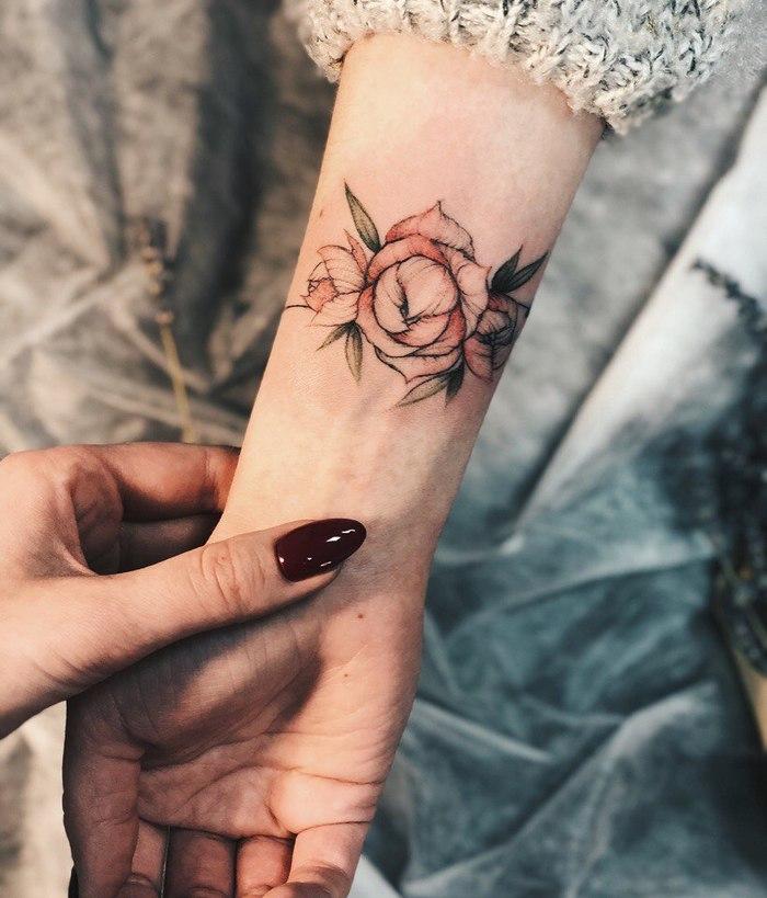 Прекрасные цветы от неизвестного мастера Тату, Цветы, Лига любителей татуировки, Длиннопост