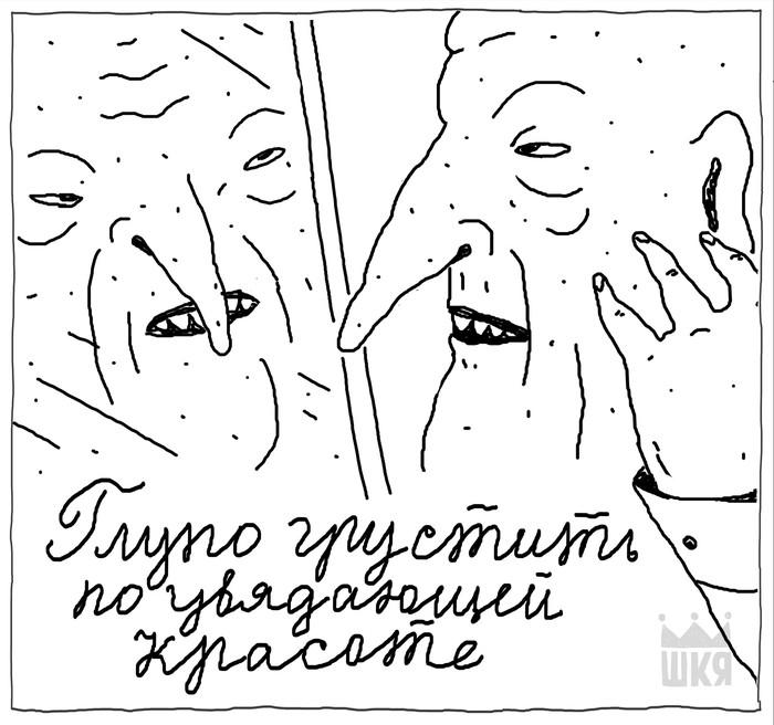 Глядя  в зеркало все равно становится грустно... Шкя, Комиксы, Кризис среднего возраста