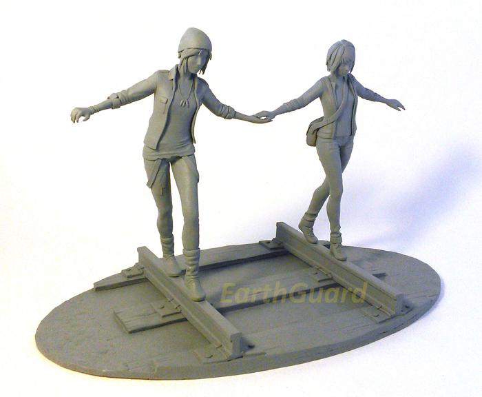 Макс и Хлоя / Max and Chloe [Life is Strange] Life is Strange, Life Is Strange Fanart, Творчество, Своими руками, Фигурка, Длиннопост, Игры, Скульптура