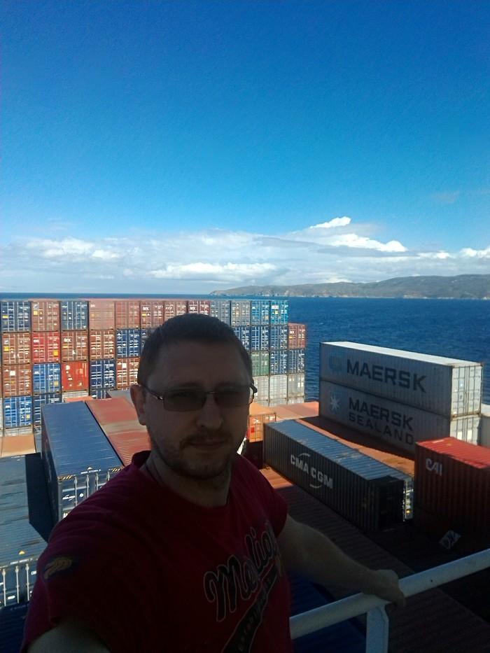 Работа на контейнеровозе. Работа, Море, Длиннопост