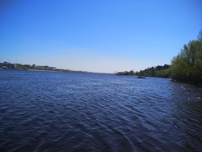 Просто фото с берега о.Хортица Река, Днепр, Мост, Дикие утки, Длиннопост
