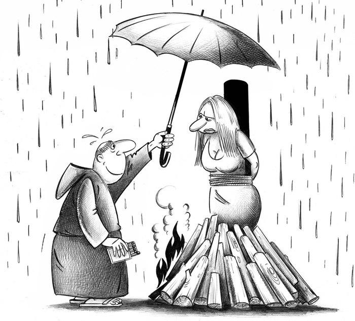 Неловкий момент. Сергей Корсун, Карикатура