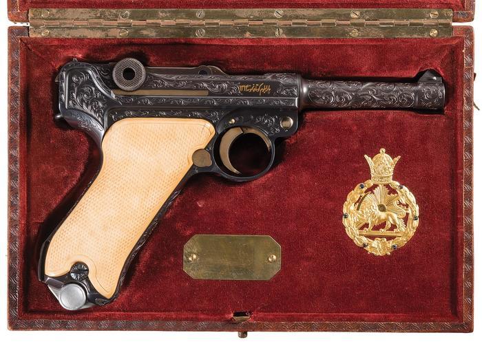 Luger персидского контракта пистолеты, Германия, Персия, парабеллум, Оружие, красивое, длиннопост