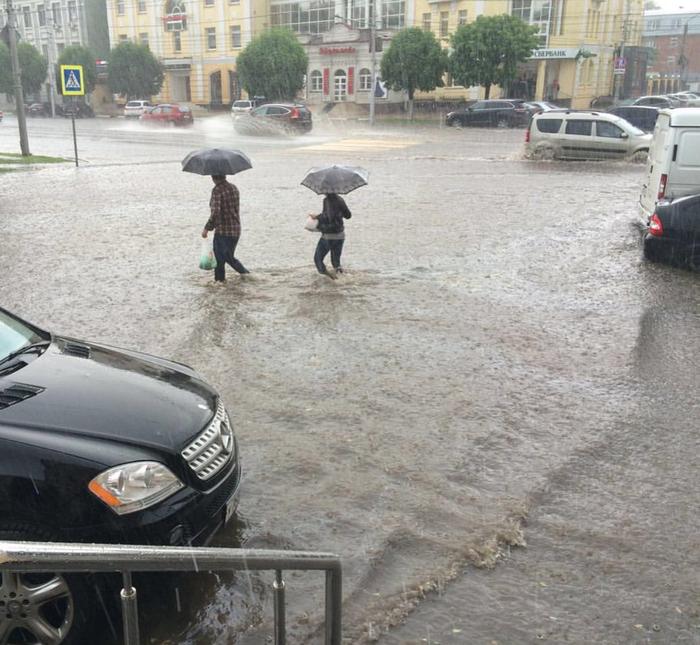 На тему «Мама без зонта на отпускала». Прикол, Смешное, Рязань, Потоп, Дождь