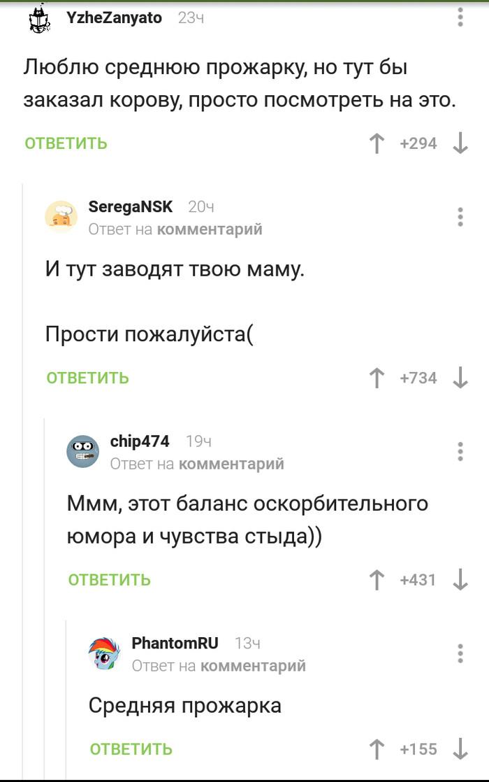 Средняя прожарка Комментарии на пикабу, Юмор, Плохой юмор, Совесть