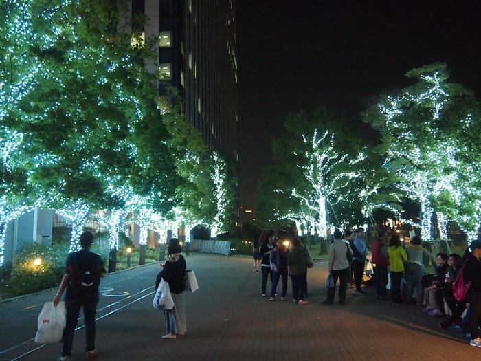Ночной зимний Токио Иллюминация, Токио, Япония, Длиннопост