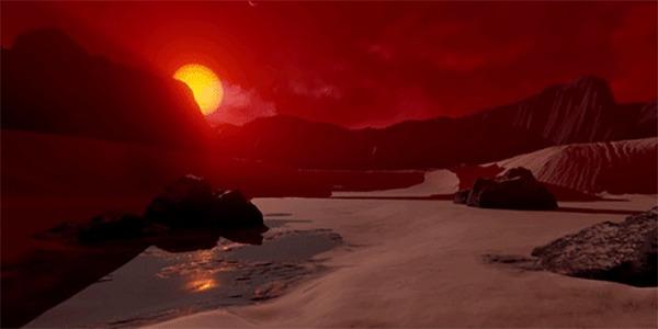 NASA создало интерактивную визуализацию поверхности Kepler-186f Космос, Визуализация, Траппист, Интерактив, Поверхность, Гифка, Длиннопост, Кеплер, Телескоп Кеплер