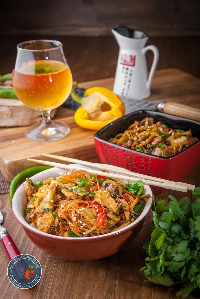 Два вида лапши в воке от Бра из Одессы с морковью, рецепт, кулинария, фотография, еда, длиннопост, Вок