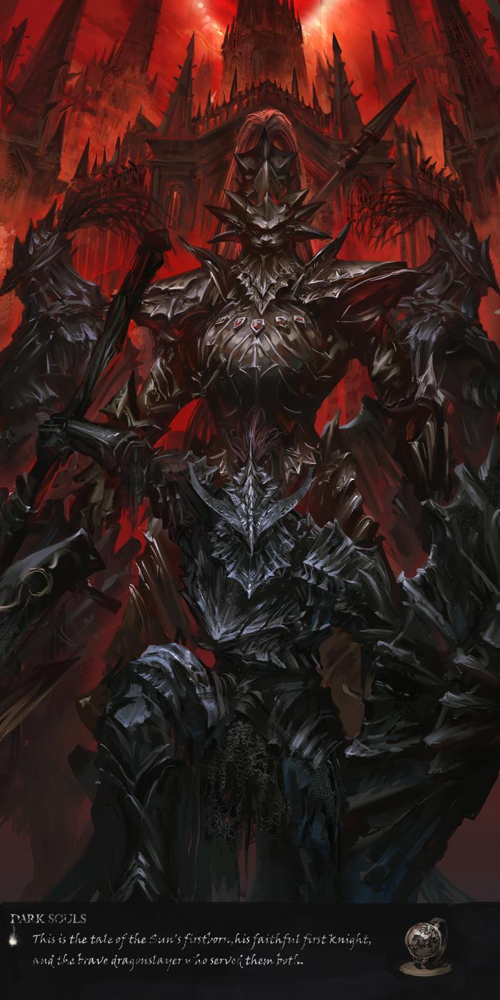 Драконоборцы Dark Souls, Арт, Dragon Slayer Ornstein, Dragonslayer Armour, Stu dts