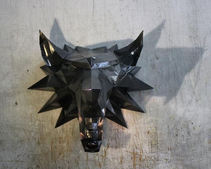 Медальон Геральта пятничное, Ведьмак, pepakura, Волк