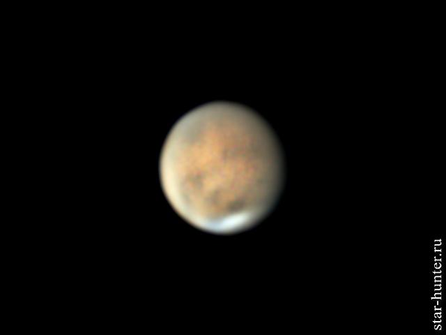 Пылевая буря на Марсе. 22 июня 2018 года, 01:51 Марс, астрофото, астрономия, космос, планета, StarHunter, АнапаДвор