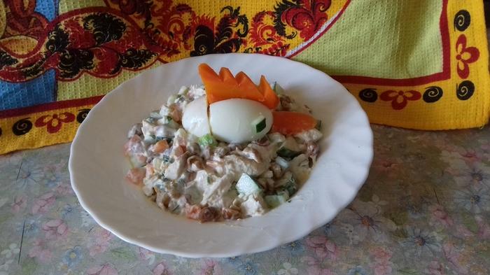 "Салат ""Петушок"" Рецепт, Салат с курицей, Кулинария, Салат, Курица, Еда"