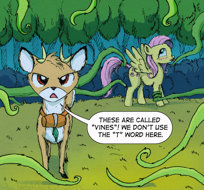 Тентакли My little pony, Bramble, Fluttershy, Лиана, Тентакли, MLP Edge