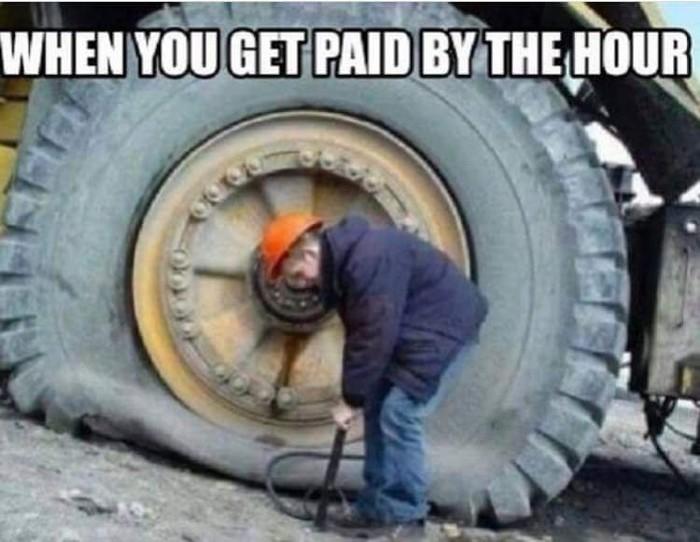 Когда у тебя почасовая оплата