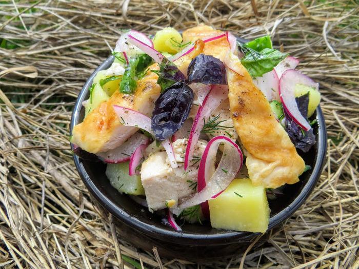 Фермерский салат (без майонеза) Еда, Вкусно, Приготовление, Рецепт, Салат, Другая кухня, Длиннопост, Фермерские продукты, Кулинария, Видео