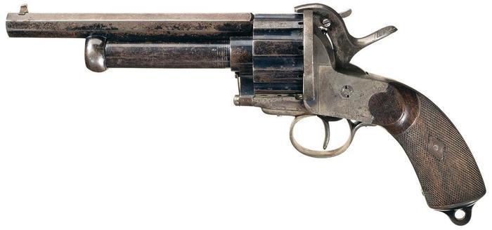 Револьвер/дробовик XIX века Оружие, Револьвер, старинное оружие, длиннопост
