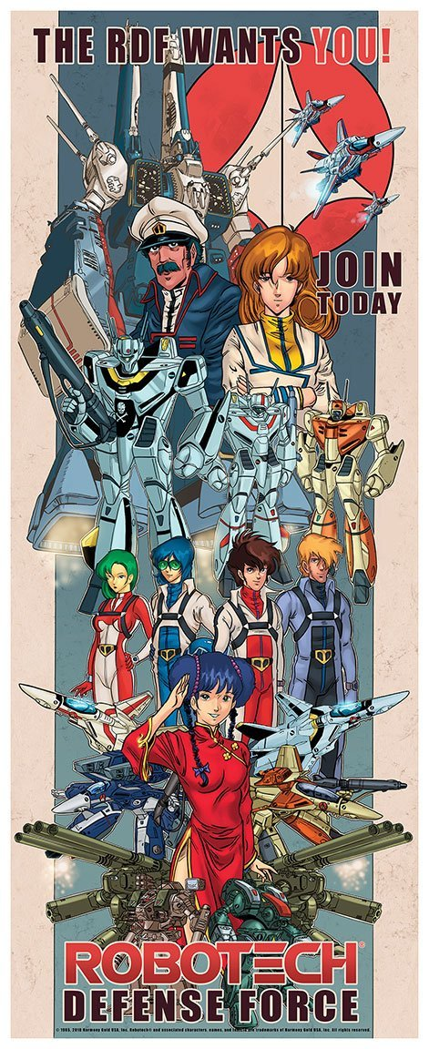 """Эксклюзивный постер по """"Robotech: The Macross Saga"""" специально для San Diego Comic-Con 2018"""