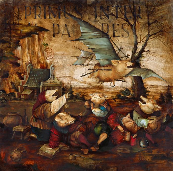 Свиньи под латынью Картина, Масло, Картина маслом, Холст, Свинья, Латынь, Творчество, Длиннопост