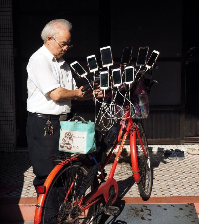Пика-пика. Пенсионеры, Велосипед, Длиннопост, Pokemon GO