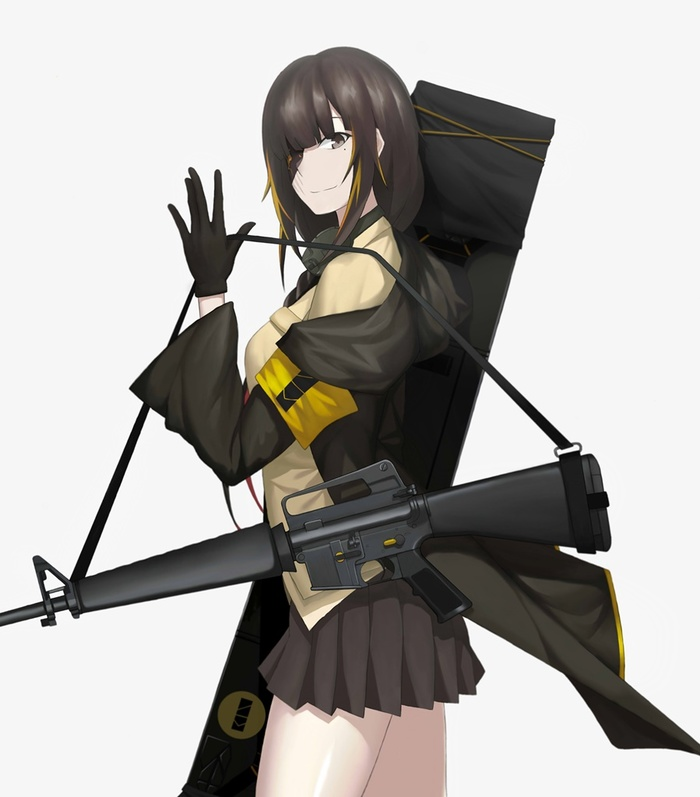 M16A1 Anime Art, Girls frontline, M16a1, Аниме