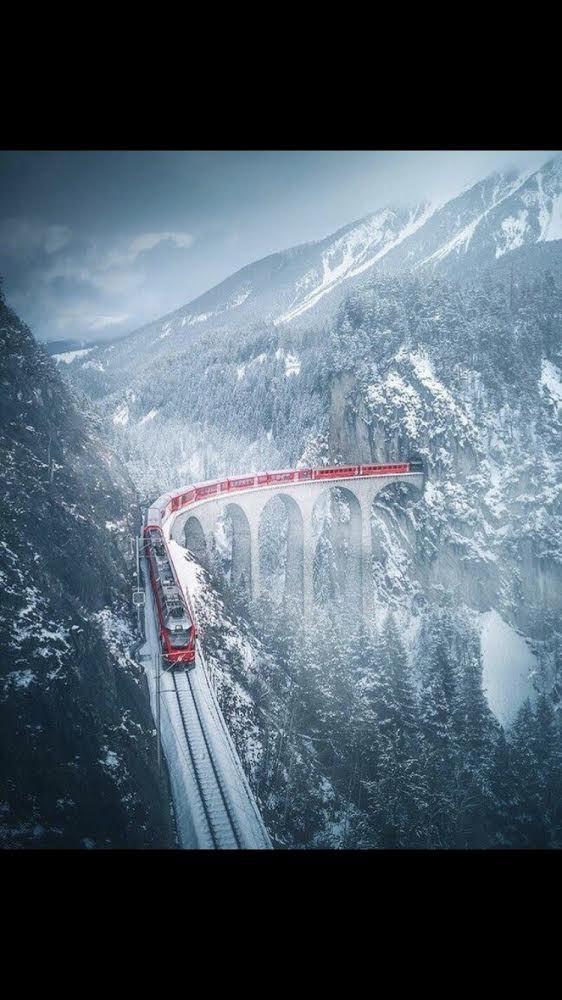 Зимний поезд.