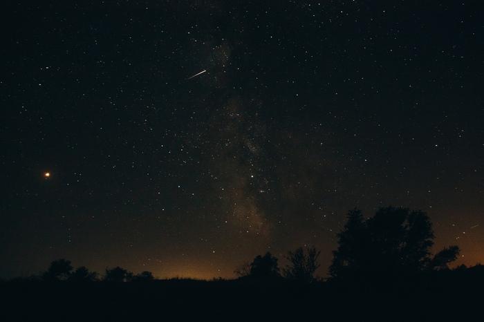 А есть ли там кто-нибудь? Моё, Фотография, Звёзды, Метеор, Природа, Coub