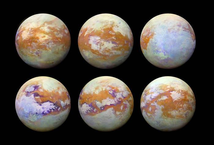 Титан без облаков. Титан, Сатурн, Спутник, Космос, Астрономия, Вселенная, Интересное, Необычное