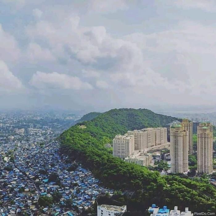 Бедные и богатые районы.Мумбаи, Индия.