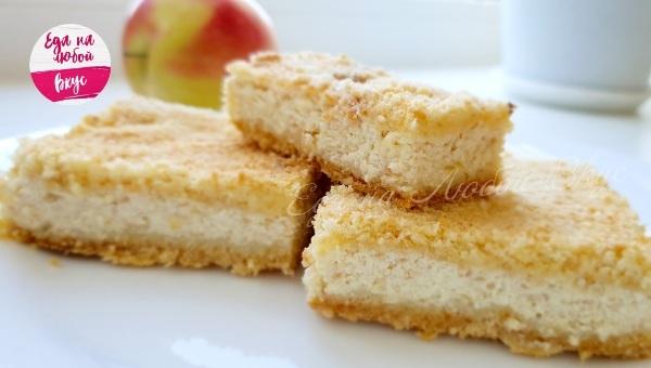 Пирог с творогом и яблоками Пирог, К чаю, Выпечка, Рецепт, Вкусно, Видео, Еда, Кулинария, Творог