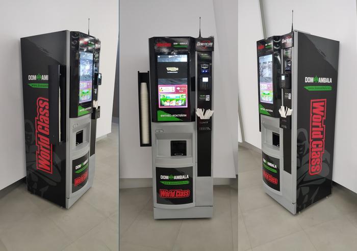 Вендинговый автомат, фитнес-коктейли Вендинг, Кофейный автомат, Спортивный автомат, Бизнес, Автомат по приготовлению фитне, Видео, Длиннопост