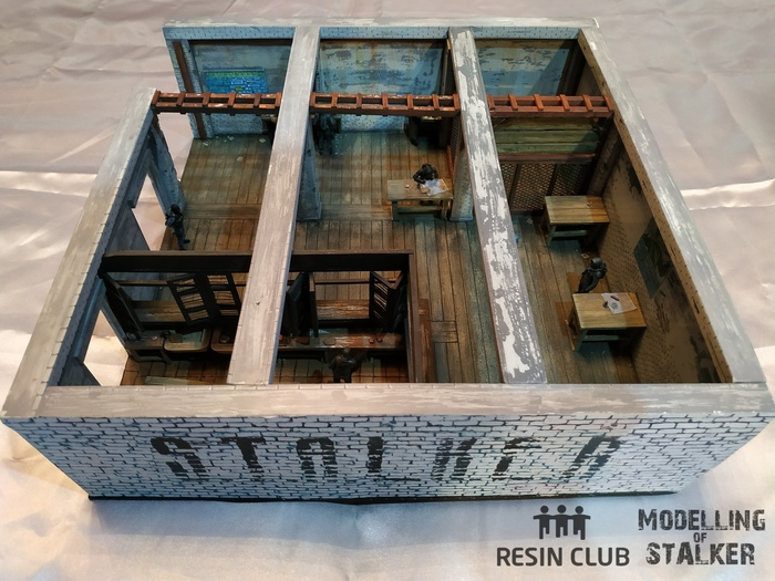 """БАР 100 РЕНТГЕН"" миниатюра в масштабе 1:35 Сталкер, Миниатюра, Диорама, Моделизм, Длиннопост"