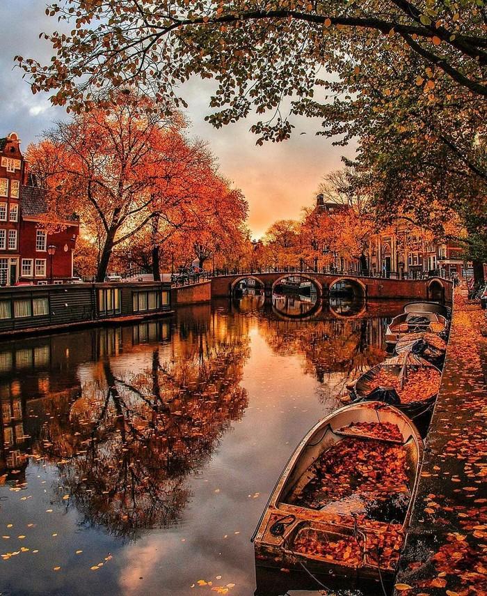 Осенний день в Амстердаме.