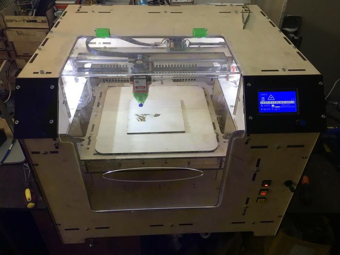 Проект лазерного гравера на светодиодном лазере 5.5w. Часть 4 Рабочий образец или как оно собралось. Гравер, Фанера, Лазер, ЧПУ, Своими руками, Длиннопост
