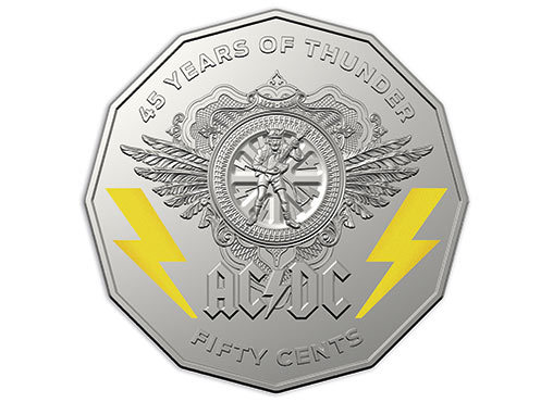 В Австралии отчеканили монету, посвященную рок-группе AC/DC AC DC, Монета, Австралия
