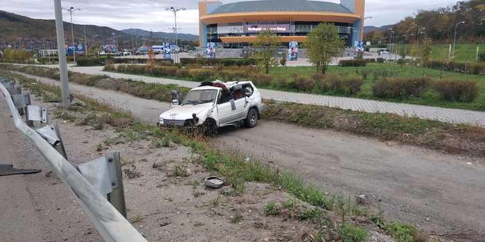 Колесом в лобовуху Владивосток, ДТП, Авария, Видео, Длиннопост, Авто
