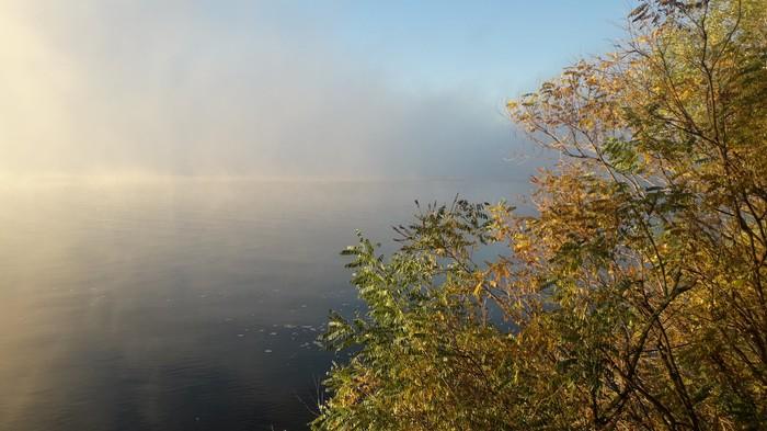 Туман над рекой Фото на тапок, Красота, Природа, Туман