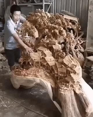 Из цельного куска дерева