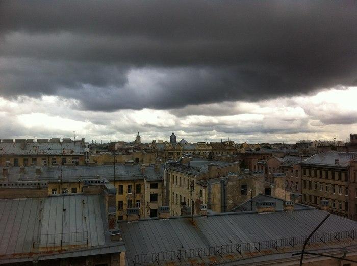 Небо .Васильевский остров.
