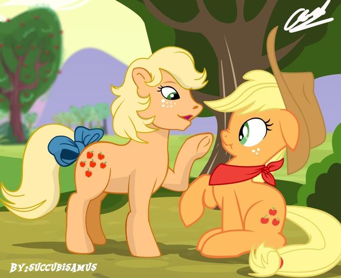 Встреча двух поколений My Little Pony, AppleJack, G1