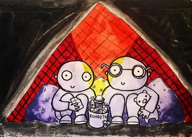 В домике Комиксы, Рисунок, Дом, Проблема, Решение, Психотерапевт, Длиннопост