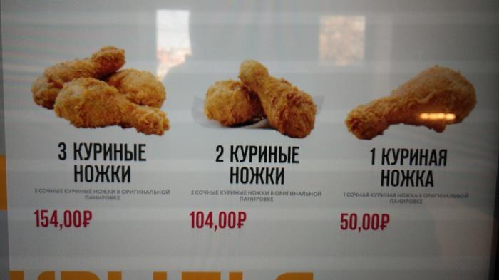 Логика KFC KFC, Цены, Логика