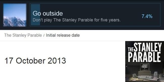 Сегодня официально можно получить все ачивки для The Stanley Parable Ачивка, Компьютерные игры