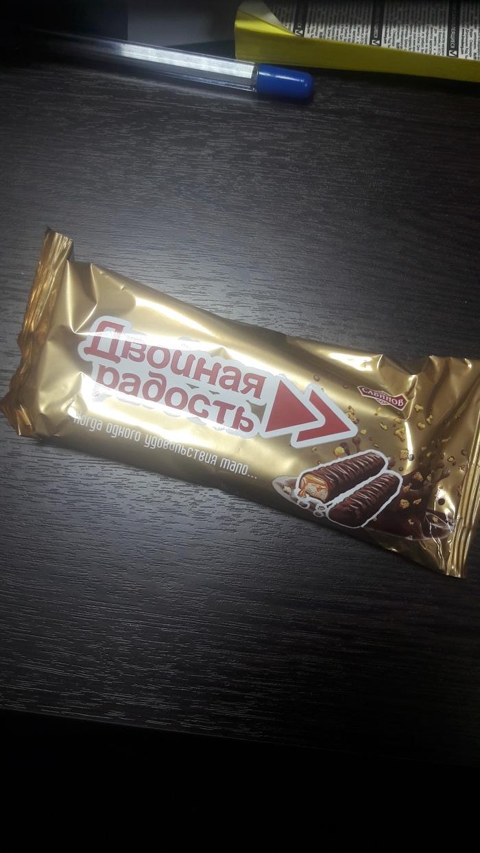 Шоколадное импортозамещение Твикс, Двойная радость, Импортозамещение, Сладости, Батончик, Шоколад, Еда, Фотография, Длиннопост