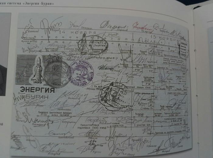 Подписи разрешений на запуск  многоразовой транспортной космической системы (МТКС) «Буран»