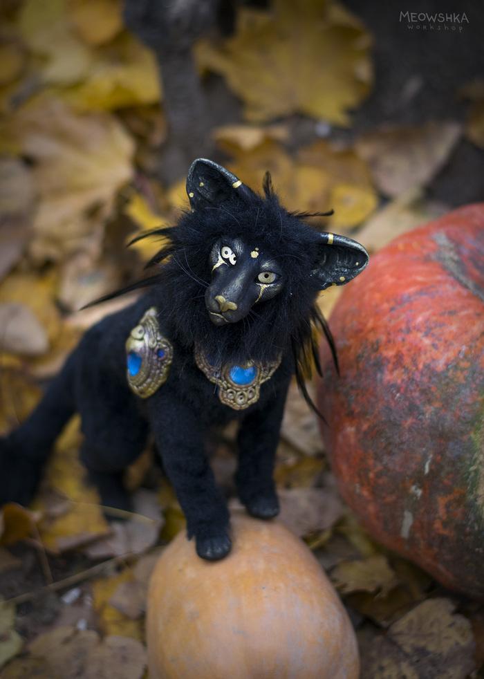 Жутковатый Хэллоуинский кот Хэллоуин, Кот, Рукоделие без процесса, Рукоделие, Авторская игрушка, Существо, Ориентальные кошки, Длиннопост